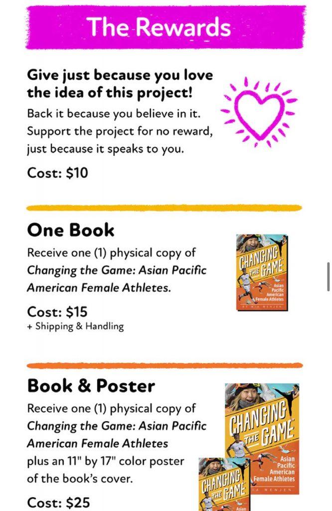 Rewards graphics in Kickstarter