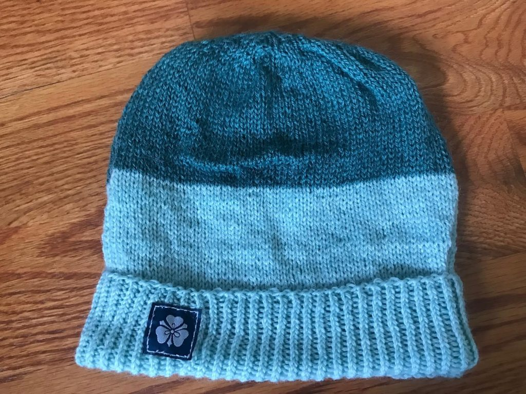 Large Teal 2 Tone Hat
