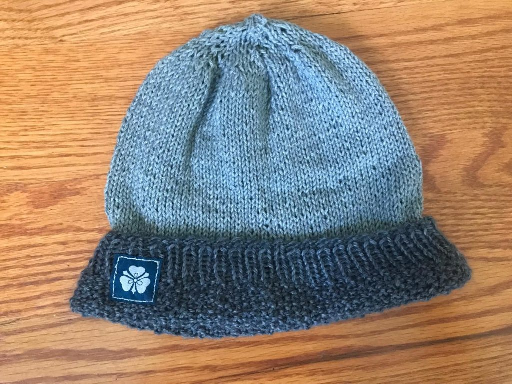 Very Soft Small Two Tone Grey Hat