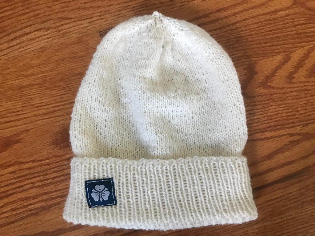 Medium Fluffy Cream Hat