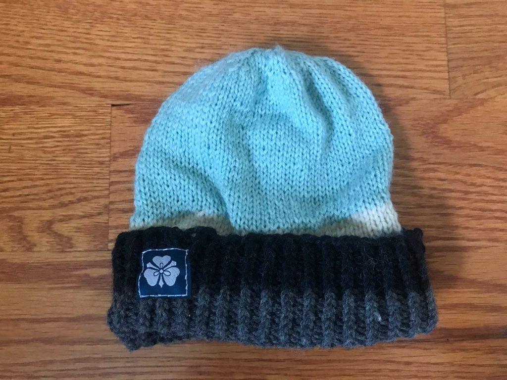 Child's Multi-Striped Teal/Gray/Cream Hat