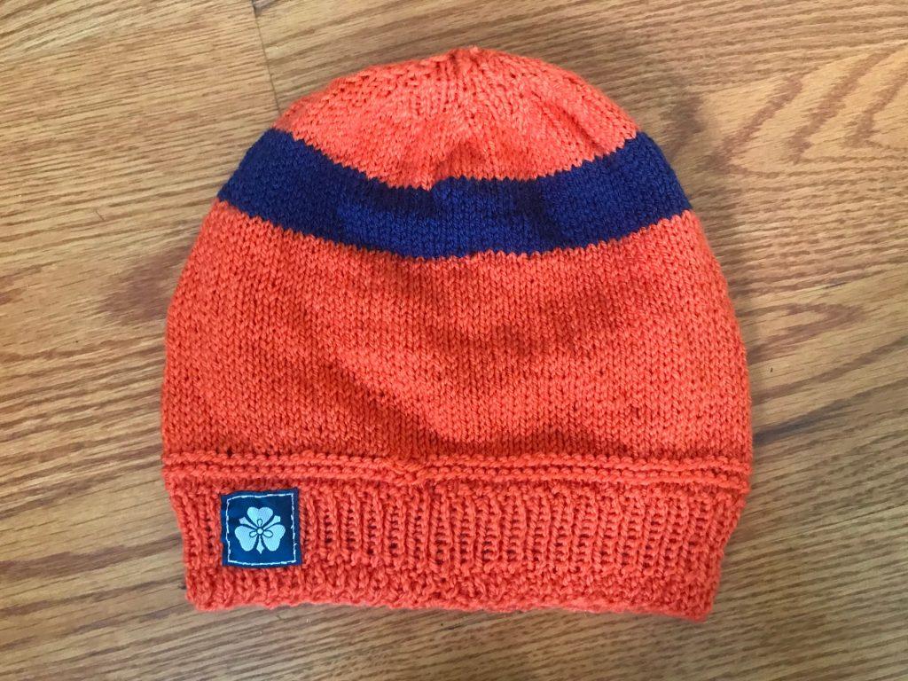 Orange with Navy Stripe Hat