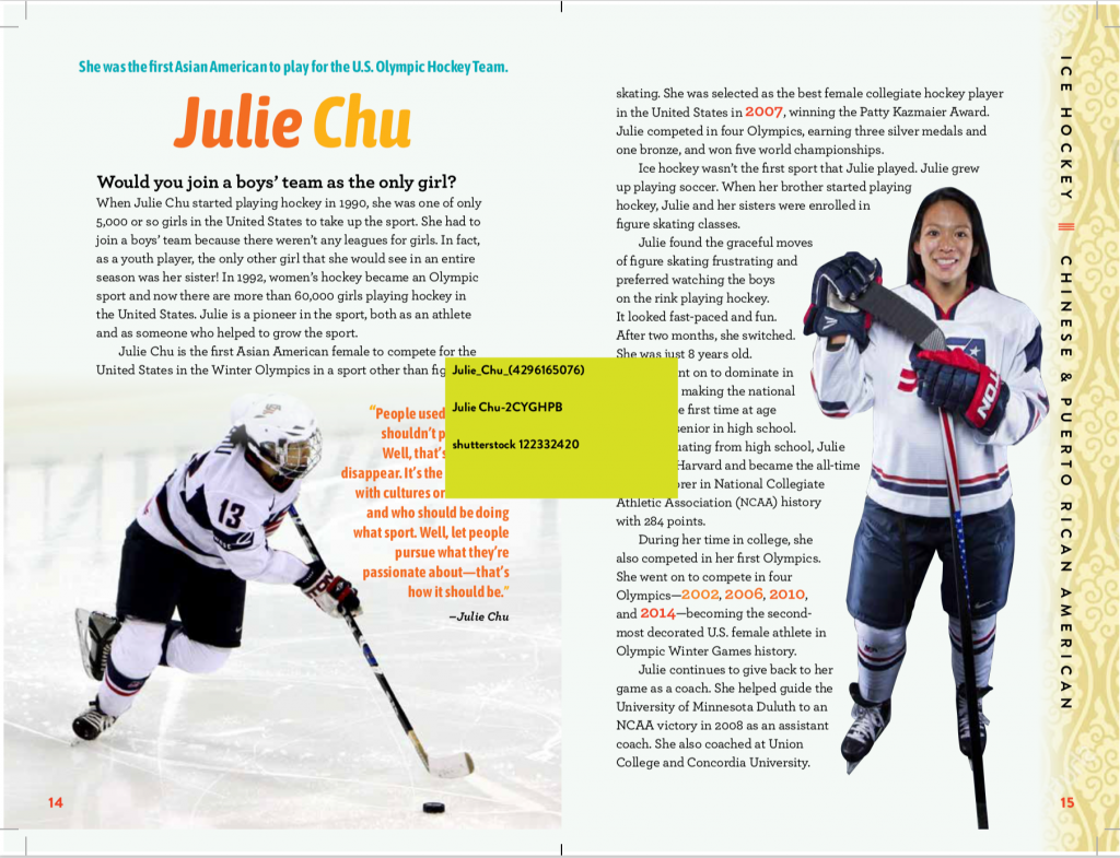 Changing the Game Julie Chu Asian Pacific American Female Athletes Mia Wenjen