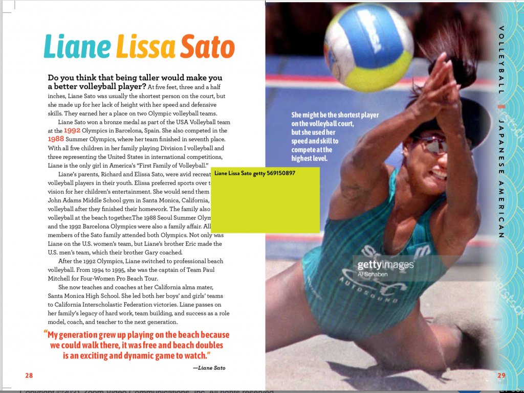 Changing the Game Asian Pacific American Female Athletes Mia Wenjen Liane Sato